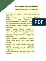 Estas son las obras y Autores del Genero Narrativo.docx