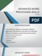 lesson 3 dvanced processing skills