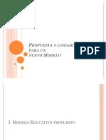 Propuesta y Lineamientos Para Un Nuevo Modelo-EQUIPO 4