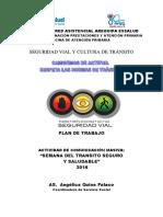 Plan Local Semana del Tránsito Seguro y Saludable - 2016