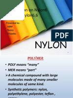 Presentation on nylon6 and nylon6,6