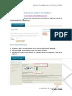 Registro de usuario Certiport