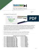 ECE Laws III QUESTIONS