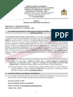 EDITAL PUBLICADO REGISTRO DE PRECOS 2122019 - Equipamentos hospitalares e de laboratorio - ARA