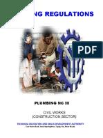 TR Plumbing NC III