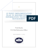 25 Point Implementation Plan to Reform Federal IT