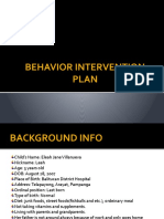 Behavior Intervention Plan