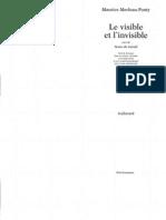 Merleau-Ponty - Le Visible Et l'Invisible