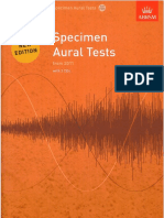 Specimen Aural Test 1-3 NEW EDITION 2011
