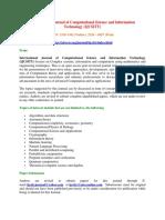 International Journal of Computational Science and Information Technology(IJCSITY)