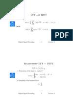 Relationship Dft and Dtft