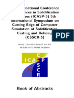 5th International Conference on Advances in Solidification Processes (ICASP-5) 5th International Symposium on Cutting Edge of Computer Simulation of Solidification, Casting and Refining (CSSCR-5)  - Book of abstra