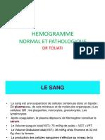1- Hémogramme normal et pathologique.pptx