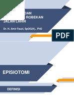 Episiotomi dan Robekan Jalan lahir