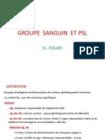 10- Groupes sanguins et PSL