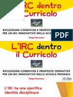 L'IRC nel Curricolo Diego Mecenero
