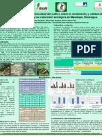 Poster - Efecto de tipo de sombra e intensidad del cultivo sobre el rendimiento y la calidad del café (Coffea arabica L.) y su valoración ecológica en Masatepe, Nicaragua