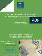Referencia Archivística BNMM