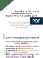 Presentacion Subirats en La AAEAP 071210