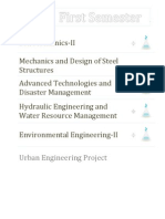 Urban Engineering Course Outline | Final Year (First semester)