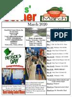3.2020 March Kids Corner Newsletter