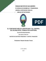 MACOFI 2017 T-I-29 PEFFIL DE TESIS - EL CONTADOR PUBLICO CERTIFICADO Y EL CONTROL DE CALIDAD EN EL TRABAJO DE AUDITORIA
