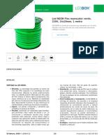 Led NEON Flex monocolor verde, 220V, 14x26mm, 1 metro