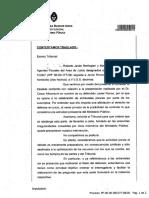 Javier Ronco apuntó a Roberto Javier Berlingieri y María Victoria Huergo por una determinación polémica