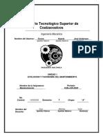 UNIDAD 1. Evolución y taxonomía del mantenimiento