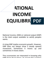 Lecture 13 NATIONAL INCOME EQUILIBIRUM