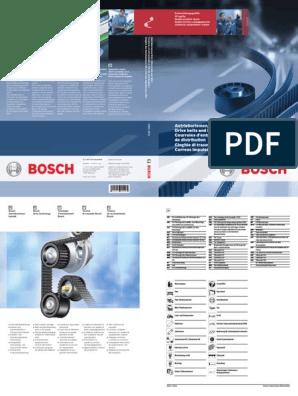 Bosch 6pk858 crantées Audi Citroen Ford Honda Mazda Renault Seat VW