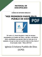 3) MIS PRIMEROS PASOS EN EL PUEBLO DE DIOS