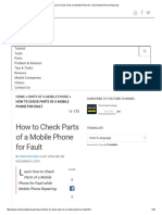 How to Check Parts of a Mobile Phone for Fault _ Mobile Phone Repairing