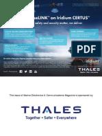 Thales VesseLINKTM on Iridium CERTUSSM