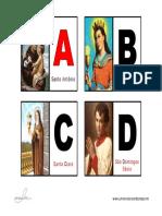 ABC dos Santos - Flash Cards www.umnovolar.wordpress.com
