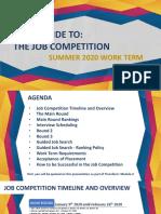 Summer 2020 Co-op Job Competition Slide Show