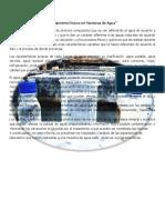 Parámetros Físicos en Muestras de Agua