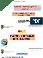 TEMA 2. PERIODO PREVERBAL