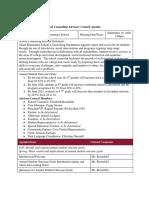 SC Advisory Council Agenda