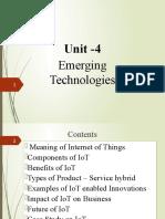 Emerging Techologies - UNIT-4