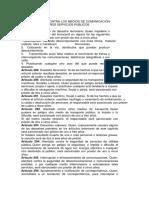 DE LOS DELITOS CONTRA LOS MEDIOS DE COMUNICACIÓN TRANSPORTE Y OTROS SERVICIOS PUBLICOS