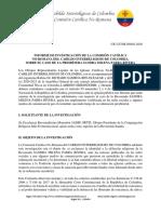 Comisión Católica No-Romana - Caso Pbra - Sandra Parra