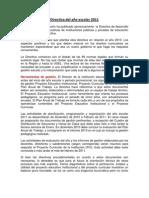 Directiva del año escolar 2011