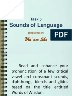 Module 1 Lesson 1-Task 5 Sounds of Language