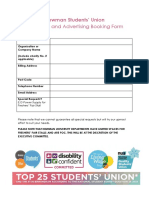 marketing booking form 2020