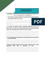 Hoja de evaluacion y ejercicios  para la experiencia Presion hidrostatica 202001