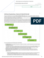 Software Engineering _ Classical Waterfall Model - GeeksforGeeks