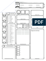D&D Character sheet things from the flood