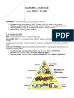 Resumen All about food 3er Primary