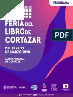 Programa de la Feria del Libro de Cortazar 2020